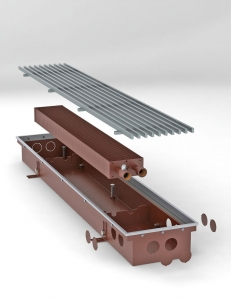 Внутрипольный конвектор «Стрим» 9х170х20 (ВхШхГ)
