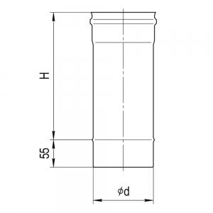 Дымоход 1,0м (430/0,5 мм)
