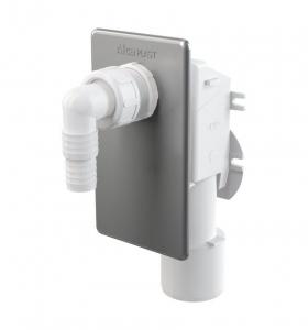 Сифон для стиральной машины под штукатурку, нержавеющая сталь AlcaPLAST
