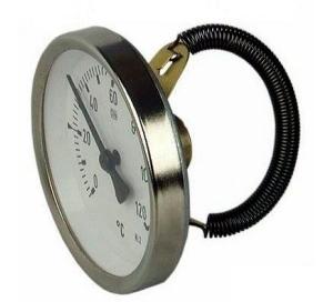 Термометр биметаллический, накладной AFRISO 63 мм / 0-120 С°