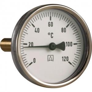 Термометр биметаллический, погружной AFRISO 63 мм / 0-120 С°
